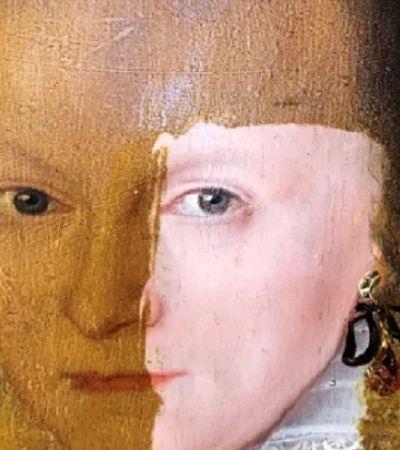 Artista remove 200 anos de sujeira em pintura em apenas alguns segundos
