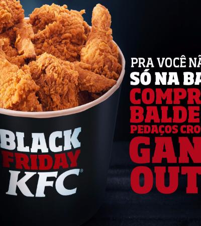 KFC entra na briga da Black Friday e oferece dois baldes de frango pelo preço de um
