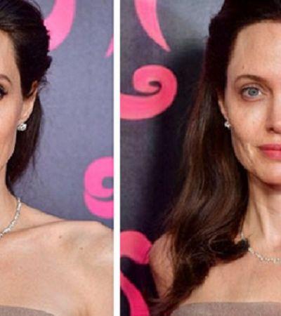 Ela usou um app para remover a maquiagem de famosas e mostrar que somos todas iguais na imperfeição