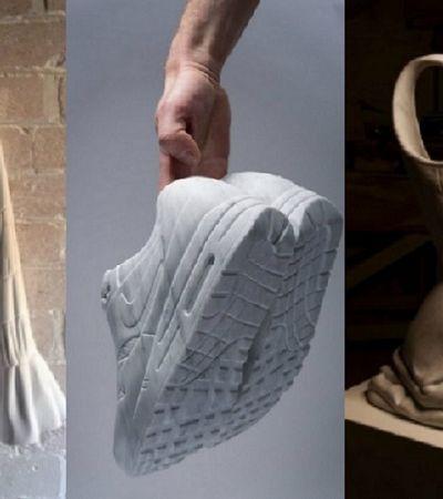 Estas esculturas são tão realistas que fica difícil acreditar que sejam de mármore