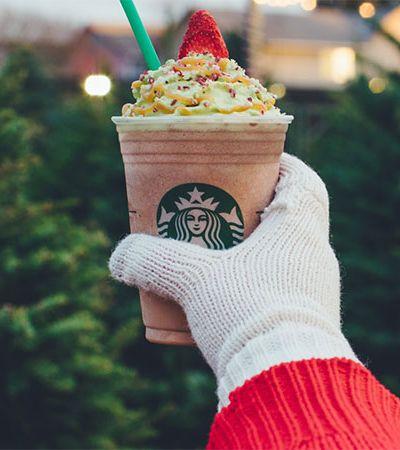 Bebidas Starbucks com sabor 'Árvore de Natal' chegam ao Brasil com venda por tempo limitado
