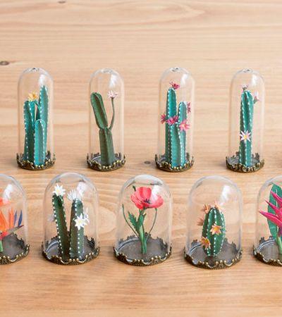 Artista cria incríveis miniaturas de terrários usando apenas papel