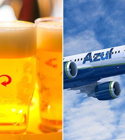 Azul vai oferecer cerveja de graça em voos de dezembro até o Carnaval