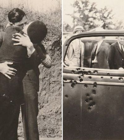 Fotografias históricas do casal de criminosos Bonnie e Clyde são expostas pela primeira vez