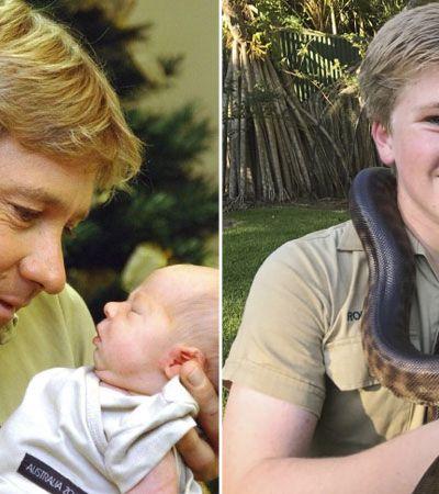 Filho de Steve Irwin, morto por arraia em 2006, seguindo os passos do pai é pura inspiração