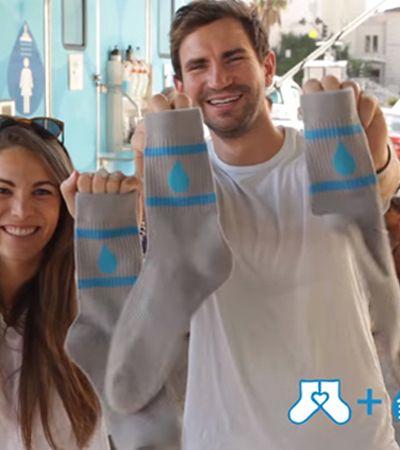 Empresa doa 15 mil pares de meia para pessoas em situação de rua enfrentarem o frio