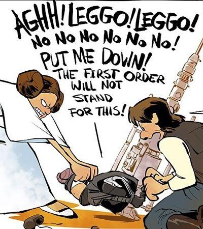 Cartunista mistura Calvin and Hobbes com Star Wars e o resultado é fantástico