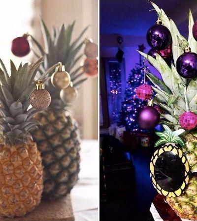 Abacaxi como alternativa a árvore de natal é tendência 'cool' no Pinterest