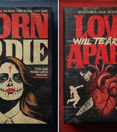 Ilustrador brasileiro transforma hits da música em capas de livros de terror