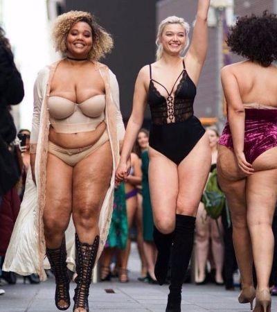 Mulheres reais invadem as ruas de NY com sua beleza real em desfile épico
