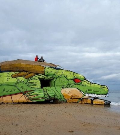 Artistas transformam construção abandonada no dragão Shenlong, de Dragon Ball