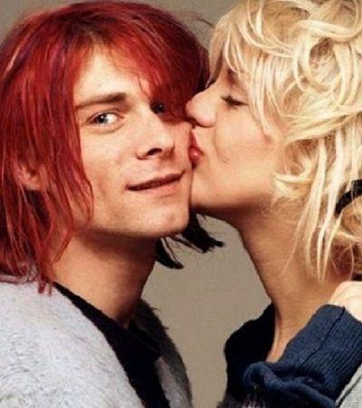 Kurt Cobain e Courtney Love são puro amor neste raro ensaio de 1992