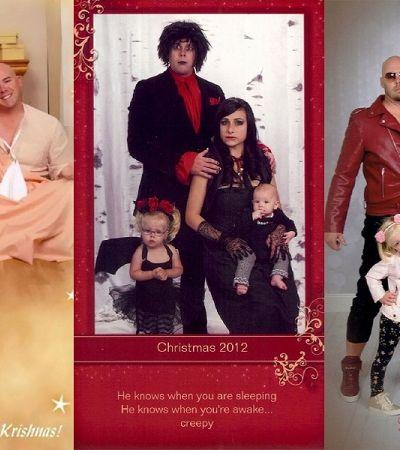 Essa família enviou os cartões de Natal mais engraçados possíveis nos últimos 15 anos