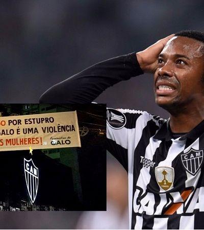 'Não aceitaremos estupradores', protestam torcedoras do Atlético contra presença de Robinho