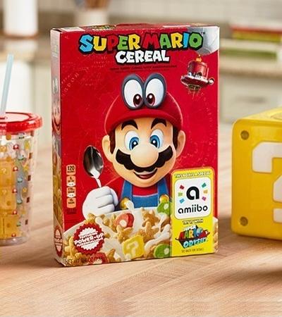 Seu café da manhã acaba de ficar mais divertido com o cereal Kellogg's do Super Mario