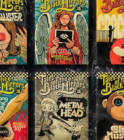 Ilustrador brasileiro recria 4ª temporada de 'Black Mirror' como capas de HQs vintage