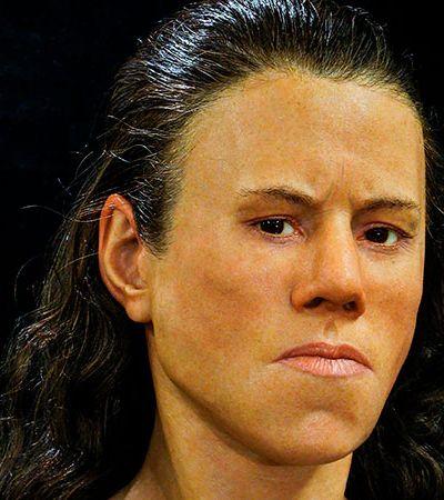 Este é o rosto de uma jovem que viveu há 9 mil anos no que é a atual Grécia