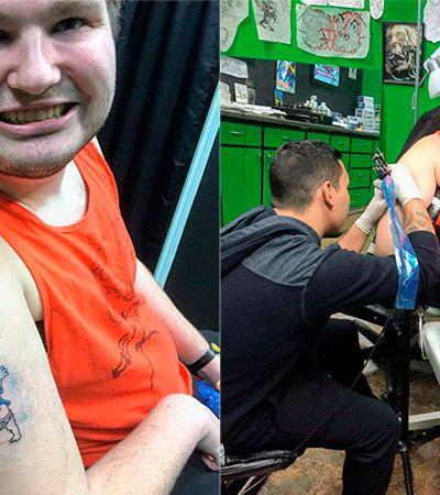Após 5 anos ouvindo não de tatuadores, jovem autista realiza o sonho da 1ª tattoo