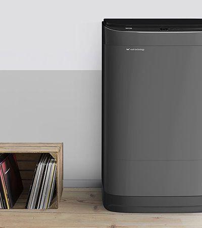 Designer cria máquina minimalista que economiza água e lava roupas sem sabão
