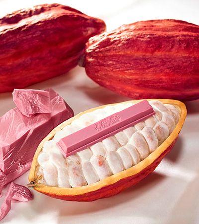 O chocolate cor de rosa está com tudo e até o Kit Kat entrou na roda