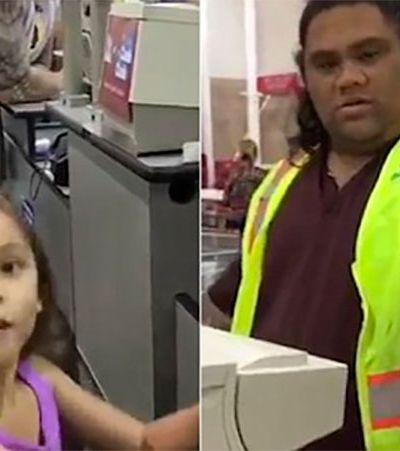 Maui, é você? Meninas acham que funcionário de supermercado é personagem de 'Moana'