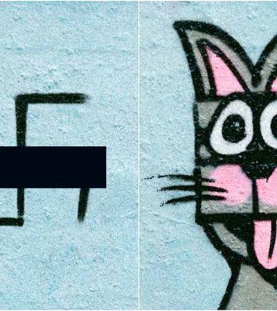 Paint Back: Artista alemão transforma símbolos nazistas em grafites fofos