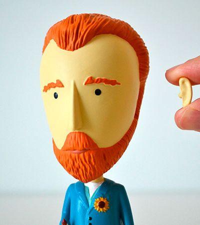Van Gogh, Frida, Da Vinci… Estes bonecos são a forma mais cult de decorar sua casa