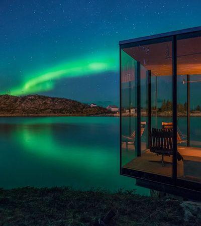 Este 'chalé' de vidro é o melhor lugar para apreciar a aurora boreal na Noruega