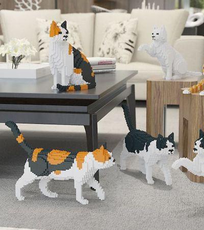 Esta loja de design uniu duas paixões de todos nós: gatos e peças Lego
