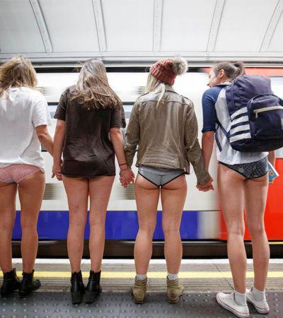 O 'rolê sem calças' no metrô de Londres foi tosco como de costume