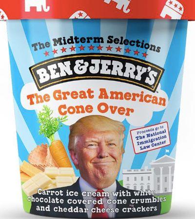 Sorvete sabor Trump? Artistas criam sabores (bem) indigestos de Ben & Jerry's
