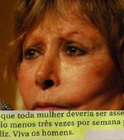 Danuza Leão diz que 'mulher deveria ser assediada 3 vezes por semana' e revolta até o neto