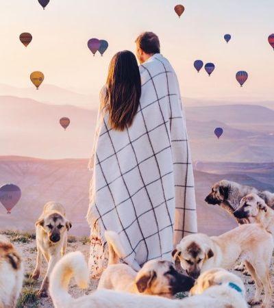 Ela encontra inspiração para suas fotos em balões, lanternas e bolhas