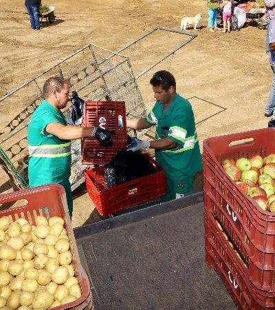 Programa troca lixo reciclável por frutas e verdura em Curitiba