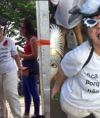 'Fica com Deus, porque comigo não vai rolar': essa senhora representa o Carnaval do futuro