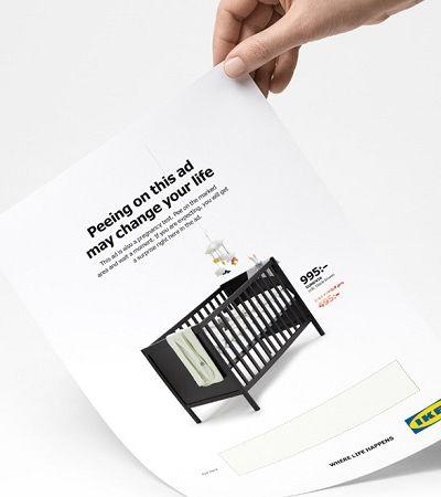'Fazer xixi aqui pode mudar sua vida': Anúncio da Ikea serve como teste de gravidez
