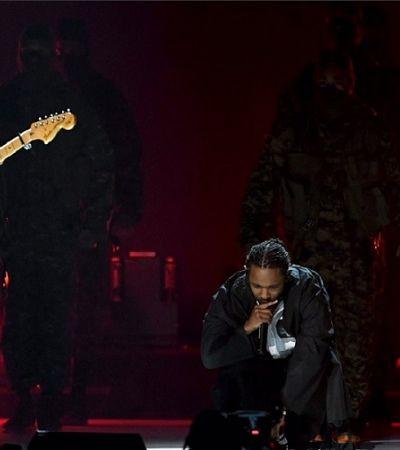 Kendrick Lamar coloca soldados para marchar contra o racismo no Grammy 2018