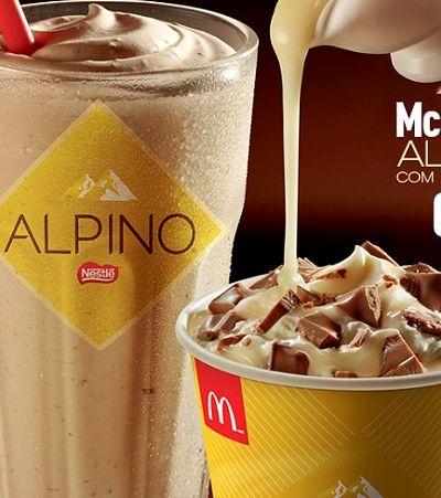 McDonald's renova cardápio com Alpino e lança novo McShake e McFlurry com Leite Moça