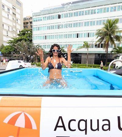 Um Uber pool que é 'pool' mesmo: App transforma carros em piscina para ajudar seu verão