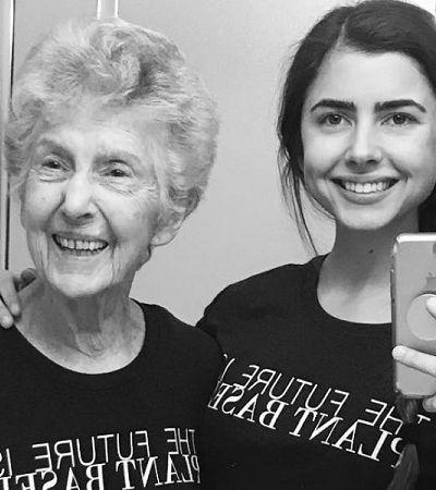 Incentivada pela neta, senhora de 96 anos vira vegana e influenciadora digital