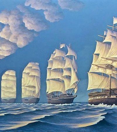 As misteriosas pinturas deste artista canadense vão desafiar sua percepção