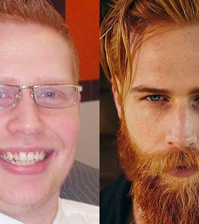 De tímido a modelo: como deixar a barba mudou completamente a vida deste cara