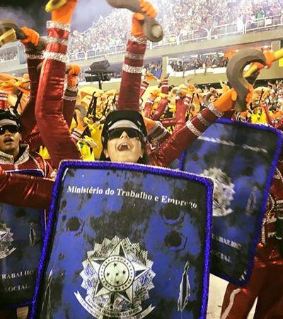Escola de samba leva crítica política e social à avenida e viraliza nas redes
