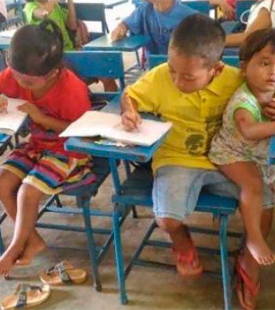 Para não perder as aulas, menino de 7 anos leva irmão mais novo com ele