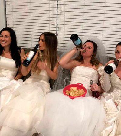 No mesmo dia da separação, ela ganhou uma festa de divórcio com as melhores amigas