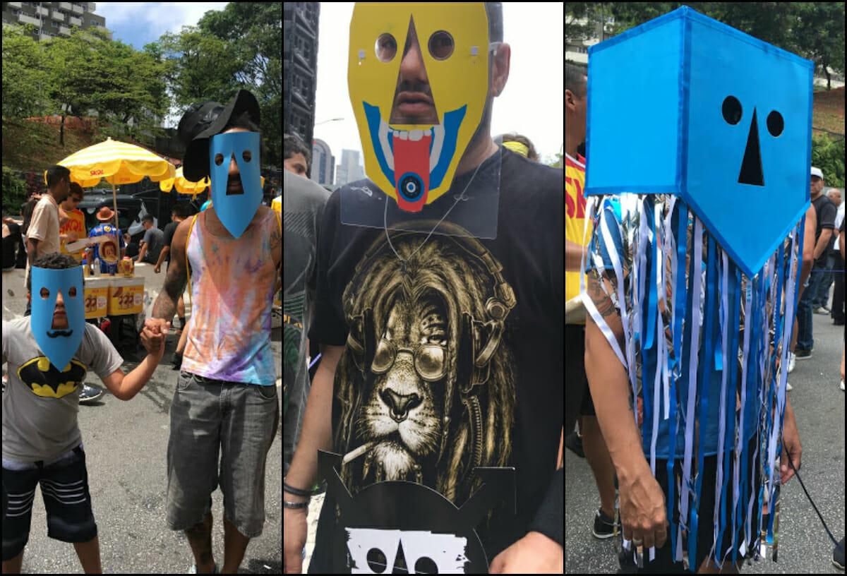 Pense nuns fãs criativos - e animados. As máscaras, feitas em casa ou distribuídas nos shows, são colecionadas a cada apresentação