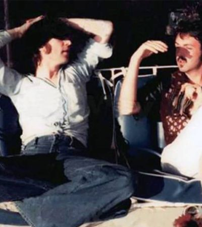 As últimas fotos de John Lennon e Paul McCartney juntos em 1974