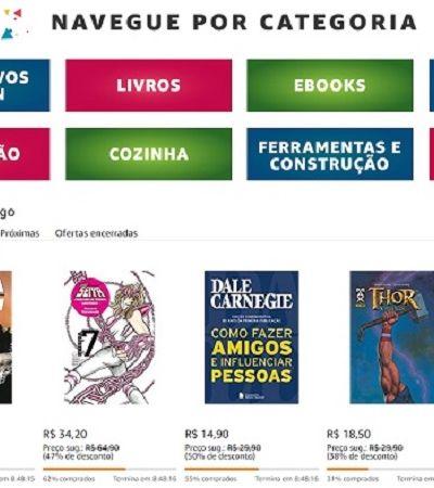 Amazon comemora cinco anos no mercado brasileiro com até 80% de desconto em produtos