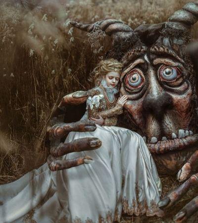 A maravilhosa releitura de 'A Bela e a Fera' criada por esta artista ucraniana