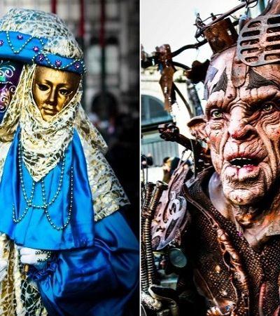 Retratos misteriosos revelam a atmosfera do Carnaval de Veneza